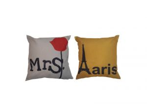 Buy Welhouse India Mrs. Rose Paris Cushion Cover - Pack Of 2 online