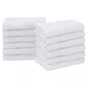 Buy Welhouse India Plain White Face Towel Set Of 12 online