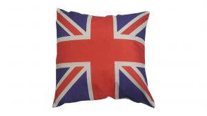 Buy Welhouse India Uk Flag Jute Cushion Cover - Pack Of 1 online