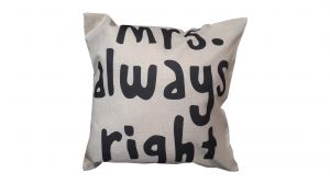 Buy Welhouse India Mrs. Always Right Jute Cushion Cover - Pack Of 1 online