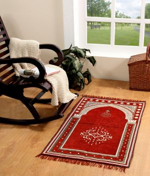 Buy Welhouse India velvet maroon janamaz / prayer mat online