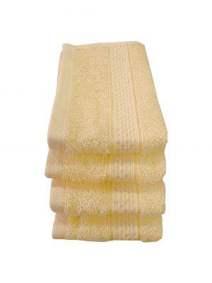 Buy Welhouse India 500 GSM Cotton 4 Piece Face Towel Set (30X30) online