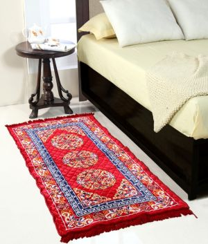 Buy Welhouse India Maroon Colour Traditional Runner Mat online
