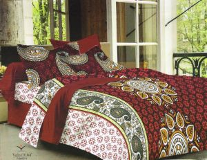 Buy Welhouse India cotton king size 1 double bedsheet with 2 pillow covers online