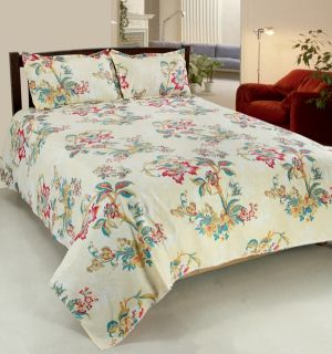 Buy Welhouse India Primium 3d Double Bed Sheet With 2 Pillow Cover (trt-004) online