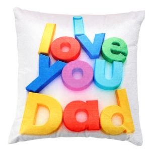 Buy Welhouse I love u dad printed cusion cover online