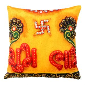 Buy Welhouse shubh labh printed cushion covers online
