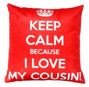Buy Welhouse cousin love printed cushion cover online