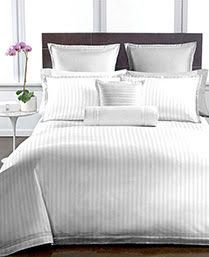 Buy Welhouse White Colour Stripes Design 1 Double Bedsheet With 2 Pillow Covers (250 Tc) online