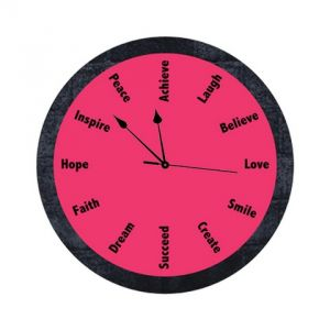 Buy 10 am Inspiration Clock(Pink) online