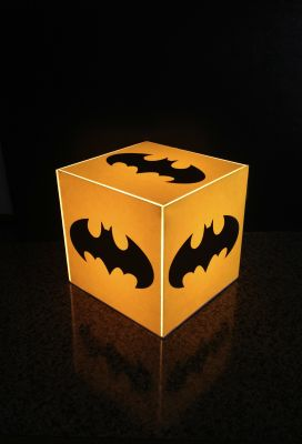 Buy 10 am Batman Cube Lamp Yellow online
