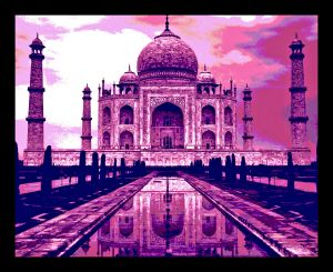 Buy 10 AM Taj Framed Wall Art_pink_ Without Glass online