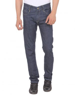 Buy Savon Mens Slim Fit Blue Stretch Denim Jeans For Men online