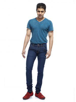 Buy Savon Mens Ku10181 Slim Fit Stretch Blue Denim Jeans For Men online