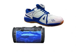 Buy Port White Blue Activa Men's Sports Shoes Combo ( Gym Dufflel Bag) online