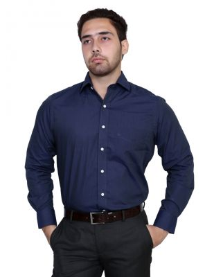 Buy Iq Pure Cotton Blue Shirt For Men online