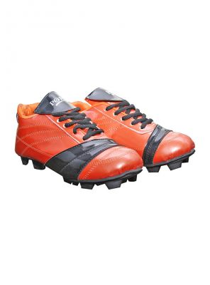 Buy Port Caliber Thk Shine Orange Football Stud Shoes online