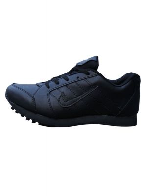 Sports Pu Black Colour Running Shoes