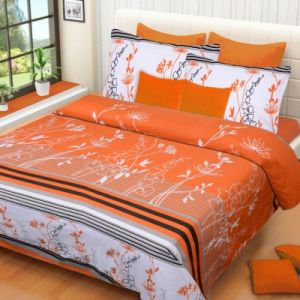 Buy Sai Arpan' 100% Cotton Double Bed Sheet With Pillow Covers online