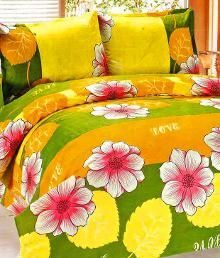 Buy Sai Arpan's Printed Double Bed Sheet With Pillow Covers online