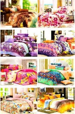 Buy Sai Arpan Set Of 8 Double Bed Sheet With 16 Pillow Covers Combo-1 online
