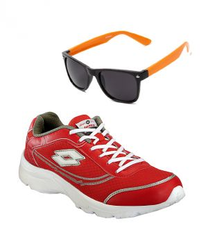 Buy Lotto Runing Red Sport Shoes With Lotto Orange Wayfarer online