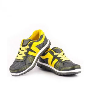 Buy Provogue 1062 Grey And Yellow Running Sports Shoes online