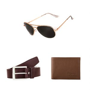Buy Lotto Belt, Wallet And Sunglass Combo online