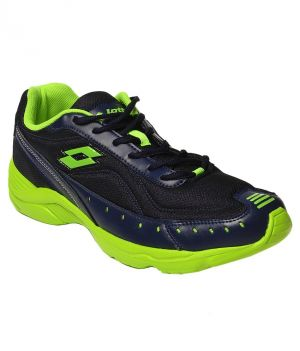 Buy Lotto Rapid Black And Green Men Running Shoes online