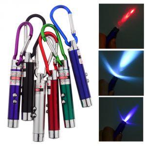 Buy 3 In 1 Laser LED Light Key Chain 1pcs. online