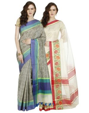 Buy Banarasi Silk Works Party Wear Designer Multi Colour Combo Saree For Women's(bsw1040_46) online