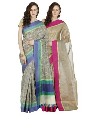 Buy Banarasi Silk Works Party Wear Designer Multi Colour Combo Saree For Women's(bsw1310_1046) online