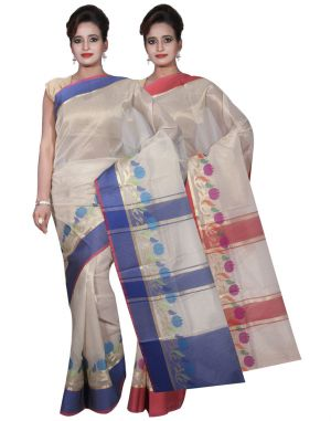 Buy Banarasi Silk Works Party Wear Designer Pink & Pink Colour Tissue Combo Saree For Women's(bsw14_15) online