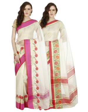 Buy Banarasi Silk Works Party Wear Designer Multi Colour Combo Saree For Women's(bsw1045_40) online