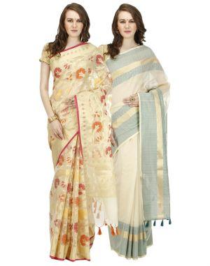 Buy Banarasi Silk Works Party Wear Designer Multi Colour Combo Saree For Women's(bsw1026_51) online