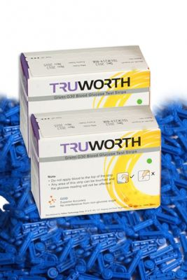 Buy Truworth G-30 French Green Test Strips Combo 100 + 100 Free Lancets online