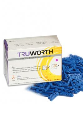 Buy Truworth G-30 Swiss Pink Test Strips Combo 50 + 25 Free Lancets online