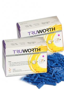 Buy Truworth G-30 Swiss Pink Test Strips Combo 100 + 50 Free Lancets online