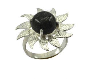 Buy Riyo Gemstone Alloy Silver Clustered Ring Aspr100-0002 online
