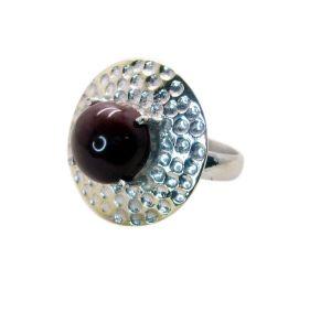 Buy Riyo Gemstone Alloy Silver Colorful Ring Aspr100-0073 online