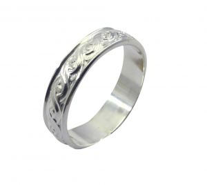 Buy Riyo A Plain Alloy Silver Contemporary Ring Aspr110-0082 online