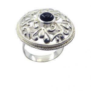 Buy Riyo Gemstone Alloy Silver Costume Ring Aspr65-0017 online