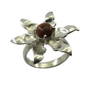 Buy Riyo Gemstone Alloy Silver Dramatic Ring Aspr75-0016 online
