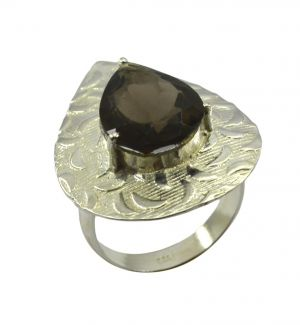 Buy Riyo Gemstone Alloy Silver Elegant Ring Aspr80-0004 online