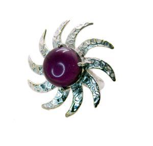 Buy Riyo Gemstone Alloy Silver Faceted Ring Aspr80-0047 online