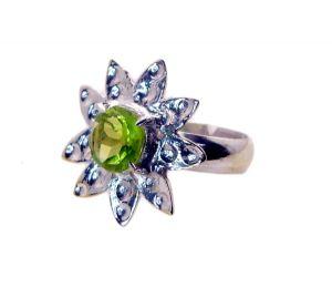 Buy Riyo Gemstone Alloy Silver Hassle Free Ring Aspr90-0062 online