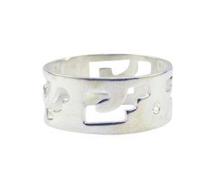 Buy Riyo A Plain Alloy Silver Innovative Ring Aspr90-0077 online