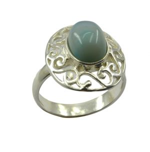 Buy Riyo Gemstone Alloy Silver Inlaid Ring Aspr95-0012 online