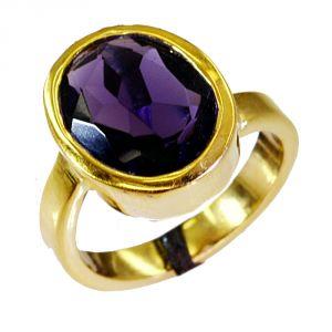 Buy Riyo Amethyst Cz 18 Ct Gold Plating Mori Ring Sz 6.5 Gpramcz6.5-88006 online