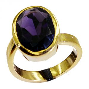 Buy Riyo Amethyst Cz 18 Kt Gold Platings Ring Sz 7 Gpramcz7-88009 online